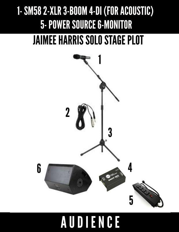 stage plot template - jaimee harris stage plot solo jaimee harris music