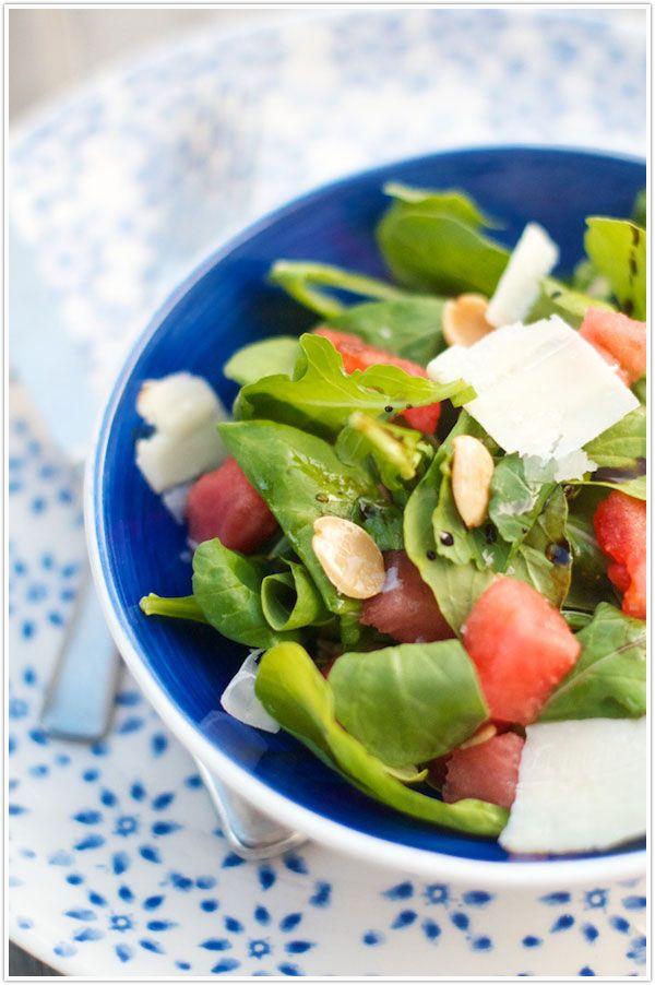 ... like this: arugula salad , watermelon and watermelon arugula salad
