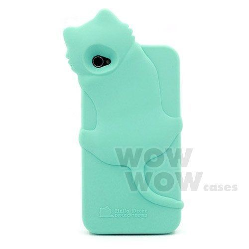 3d cute funny cat soft back silicone case cover for iphone 4 4s