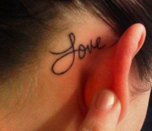 Behind the ear tattoos.