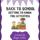 Getting to know your students quickly at the beginning of the year is ...