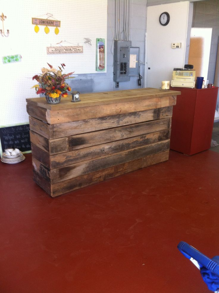 Outdoor bar from barn wood my diy pinterest for Diy wood bar