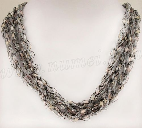 Ladder Ribbon Necklace Crochet/Knit Jewelry Pinterest