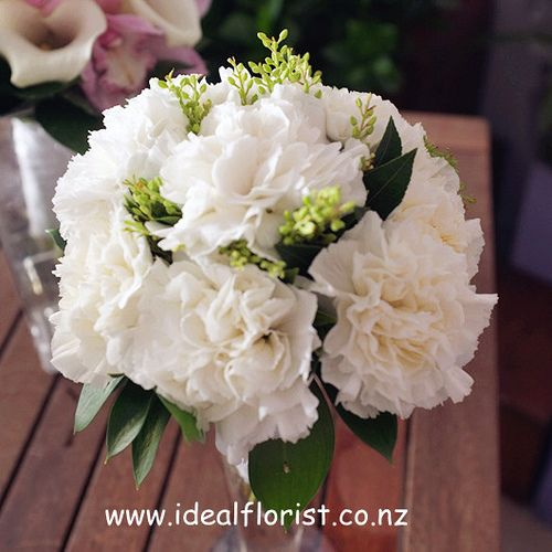 White Carnation Bridal Bouquet