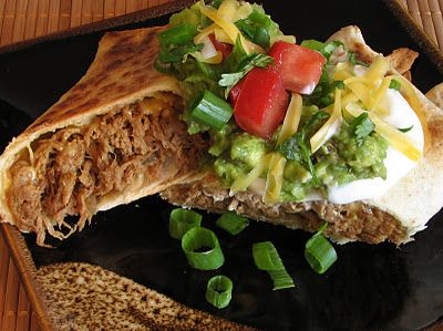 Shredded beef chimichangas, baked not fried