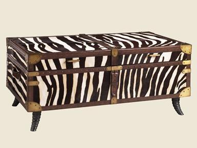 Zebra Coffee Table Trunk Living Room Redo Pinterest