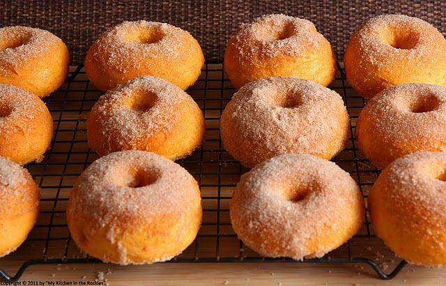 cinnamon baked sweet potato doughnuts | Sweet Street | Pinterest