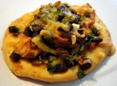 Chicken and Black Bean tostizzas | dinner foods | Pinterest