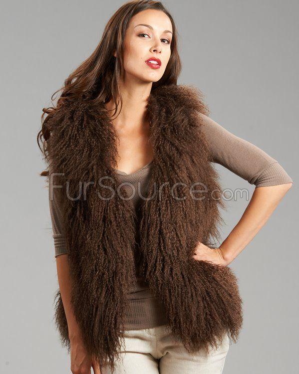 Brown Mongolian Lamb Fur Courtney Vest | Rachel Zipporah : ) | Pin… Courtney
