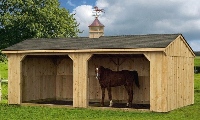 Run in shelter for the horses homesteading pinterest Horse run in shed plans design