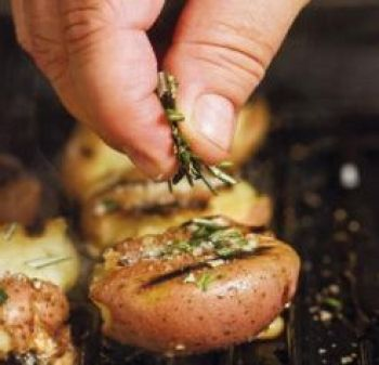 Grilled Smashed Potatoes, trying this tonight with Beer Can Chicken!