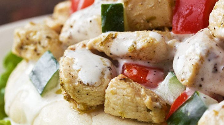 yogurt marinated chicken amp creamy greek sauce recipe