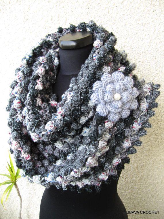 Crochet Ruffle Flower Pattern : Crochet Scarf PATTERN - Crochet Ruffle Scarf PATTERN ...