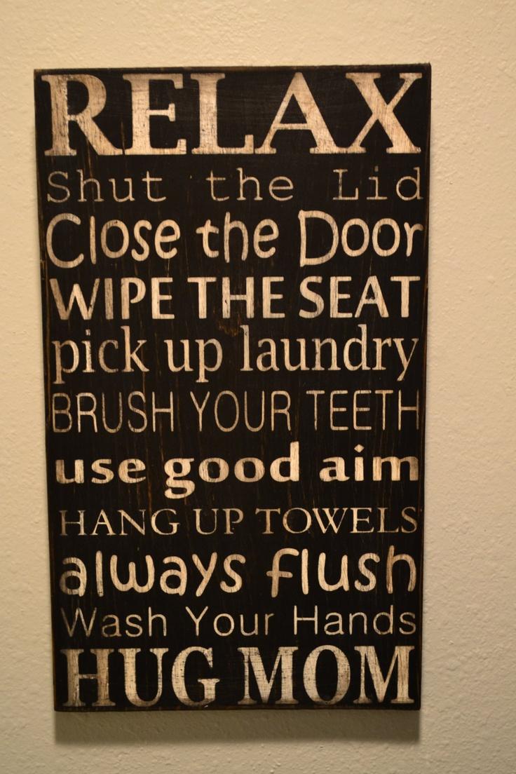 Bathroom rules subway art printable pinterest for Bathroom quotes svg