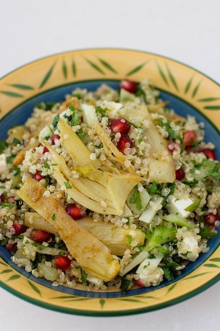 Quinoa fennel pomegranate salad