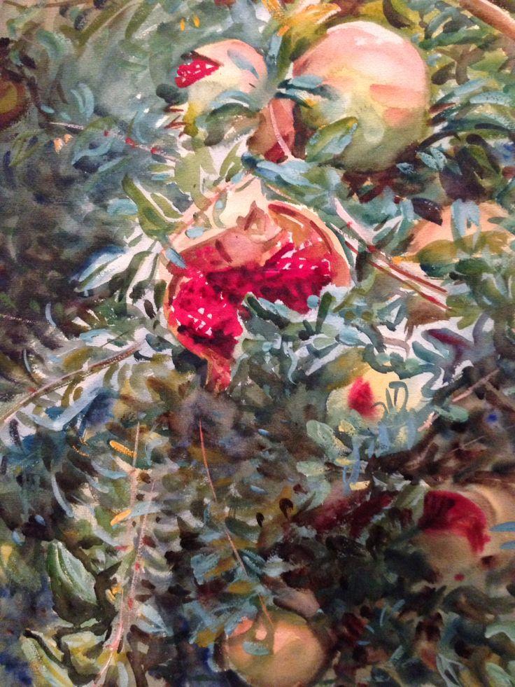 Pomegranates. John Singer Sargent rocks it at the MFA in Boston. Pomegranates
