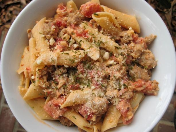 Pasta with Sausage, Tomatoes and Cream Sauce...the sauce for this ...