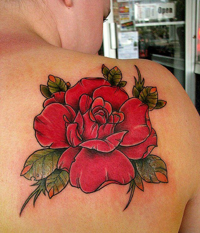 Rose tattoos on shoulder rose tattoos for women unique for Unique rose tattoos