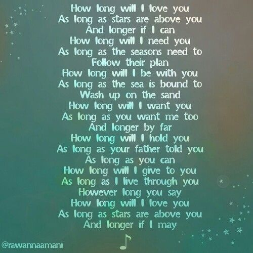 I Love You Quotes Long : How long will I love you? ? Cute Quotes Pinterest