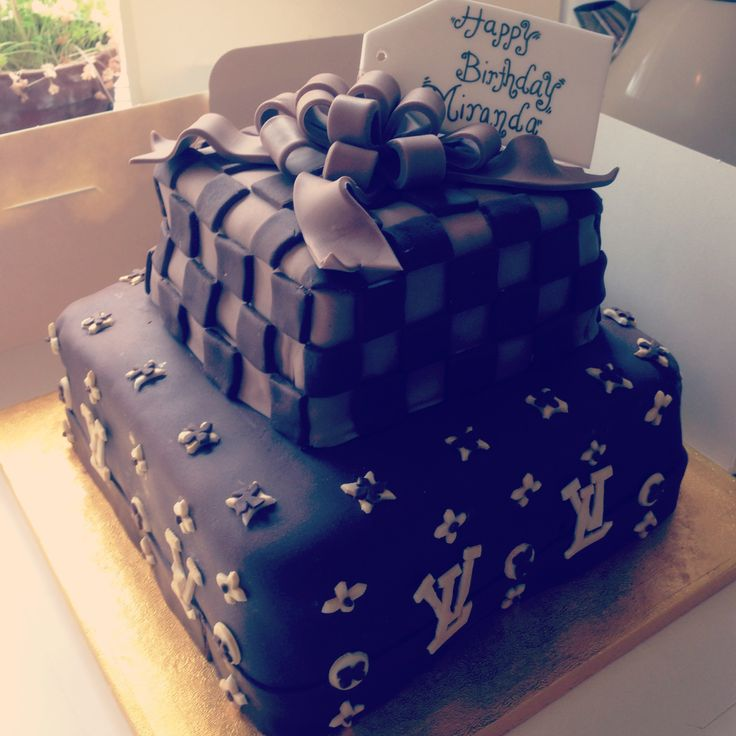 Louis Vuitton Cake Birthday ideas Pinterest
