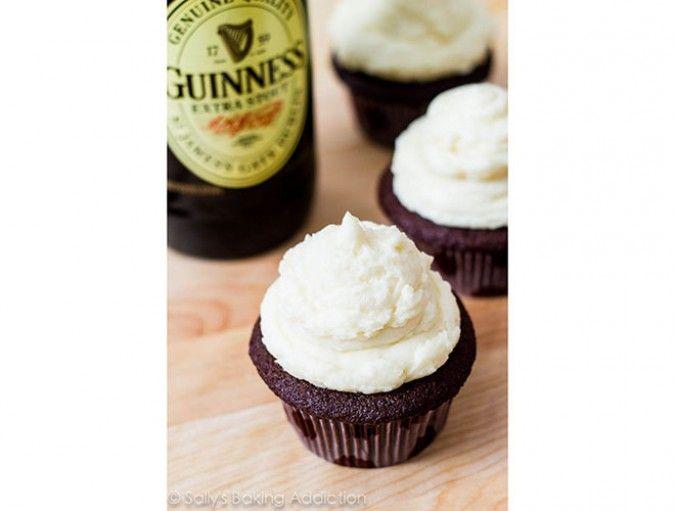 St. Patrick's Day Recipe: Guinness Chocolate Cupcakes with Irish Cream