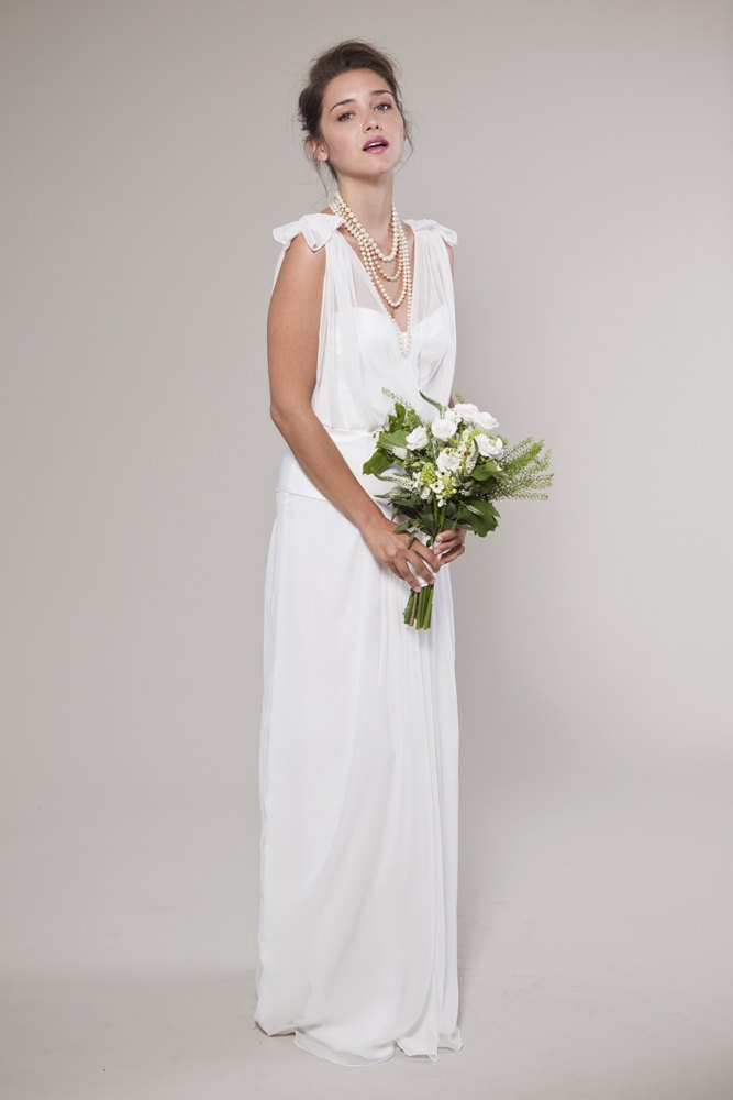 1920 39 s inspired wedding dress v neck chiffon top 1920 39 s vintage