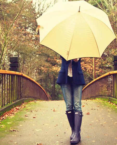 Singin' inthe rain ... But loose the umbrella