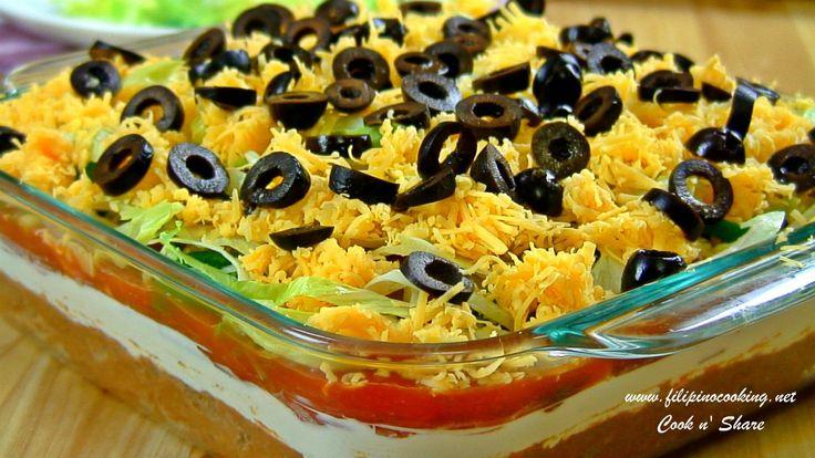 Fiesta Layered Taco Dip | food | Pinterest