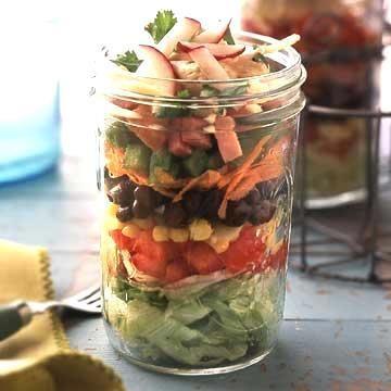 24-hour Tex Mex layered salad.