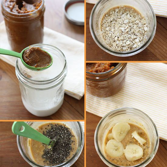 Skinny Pumpkin Overnight Oats in a Jar | Skinnytaste...swap out the ...