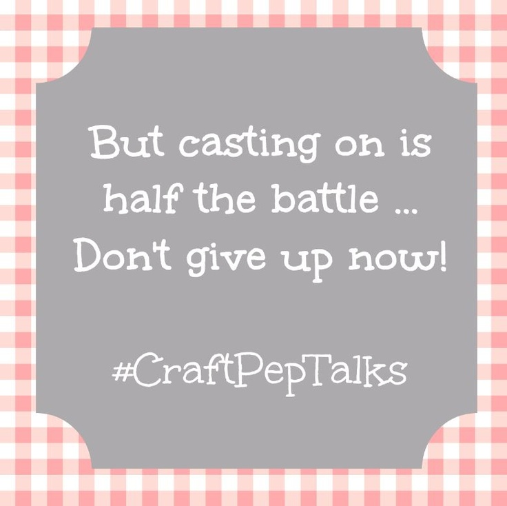 #CraftPepTalks :) What's yours? #yarn