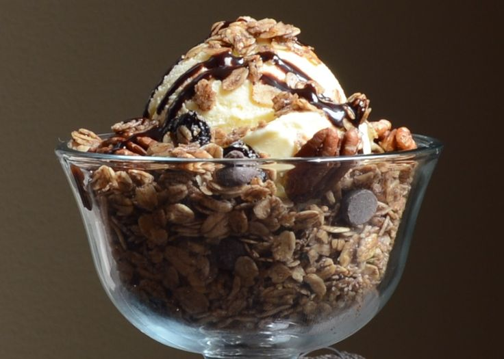 BBBC's Chocolate Cherry Pecan Granola with a little ice cream. Oh ...