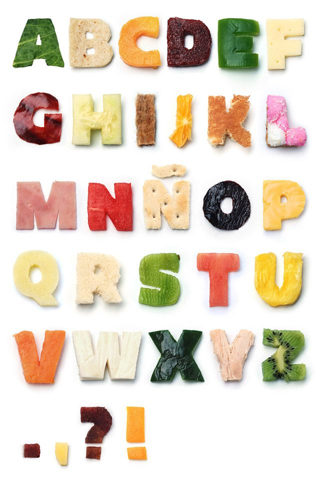 Food Font Type Pinterest