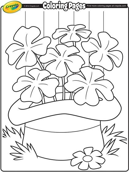 St patricks day coloring pages depict green ribbons and shamrocks were worn in celebration of st patricks day
