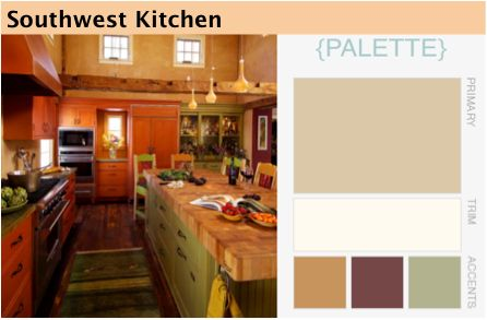 southwest kitchen color palette For the Home