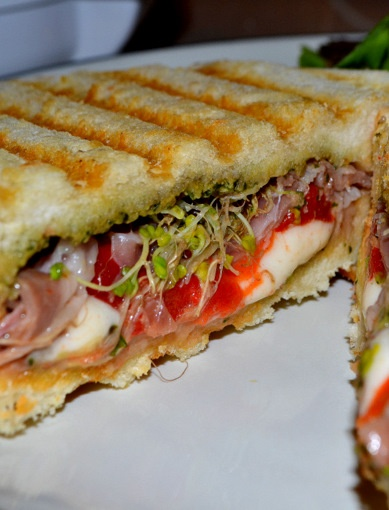 Pesto, Prosciutto Mozzarella Panini | Main Dishes | Pinterest