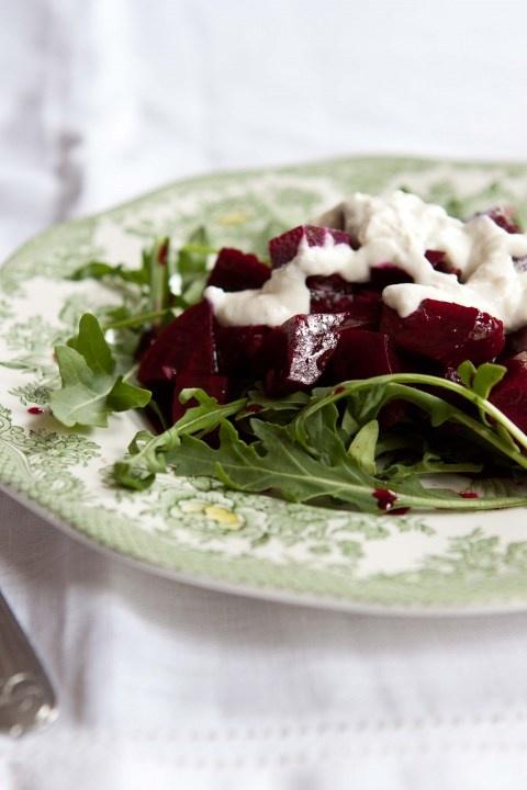 arugula, beets, horseradish cream | creative food ideas | Pinterest