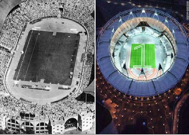 London Olympics Now And Then England Vintage