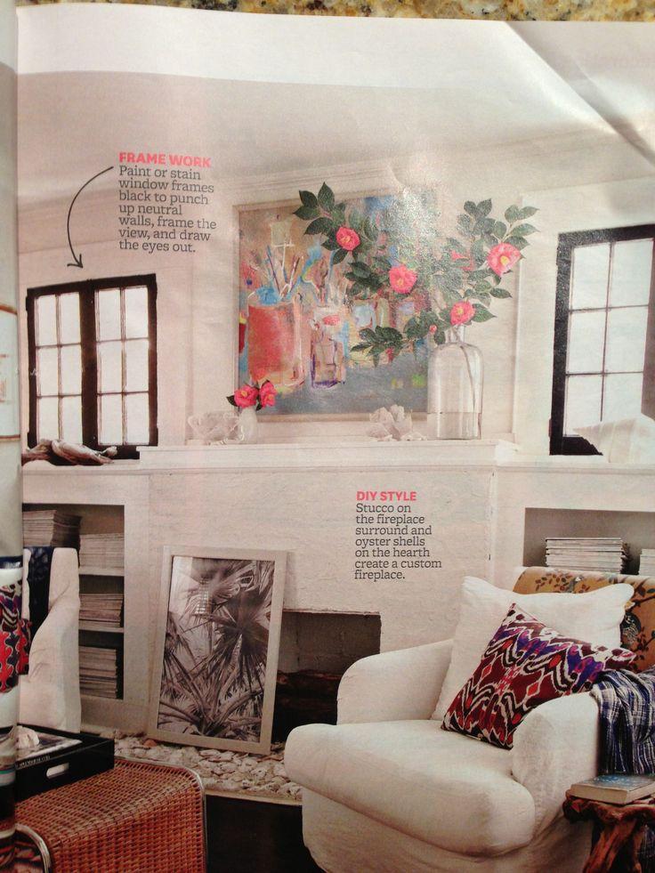 Stucco Fireplace Interior Design Pinterest