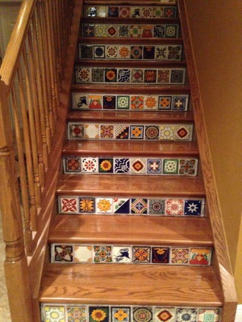 Mexican tile stairs awesome mexican decor pinterest