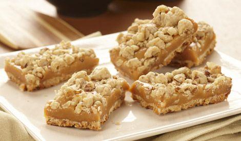 Caramel Pecan Squares - smooth caramel and crunchy pecans