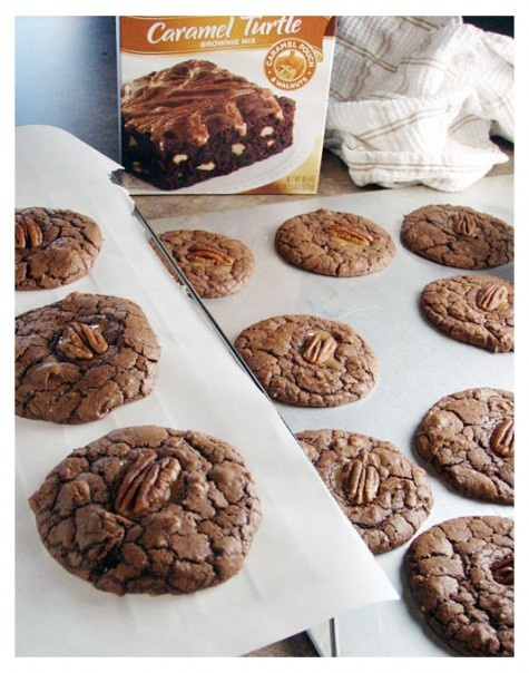 Caramel pecan turtle cookies | food | Pinterest