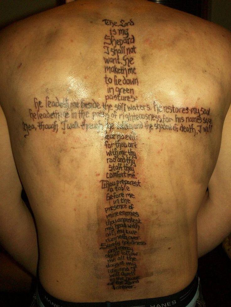 Psalms 23 tattoo