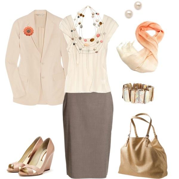 """Work wear #11, neutrals"" by hanaloha on Polyvore"