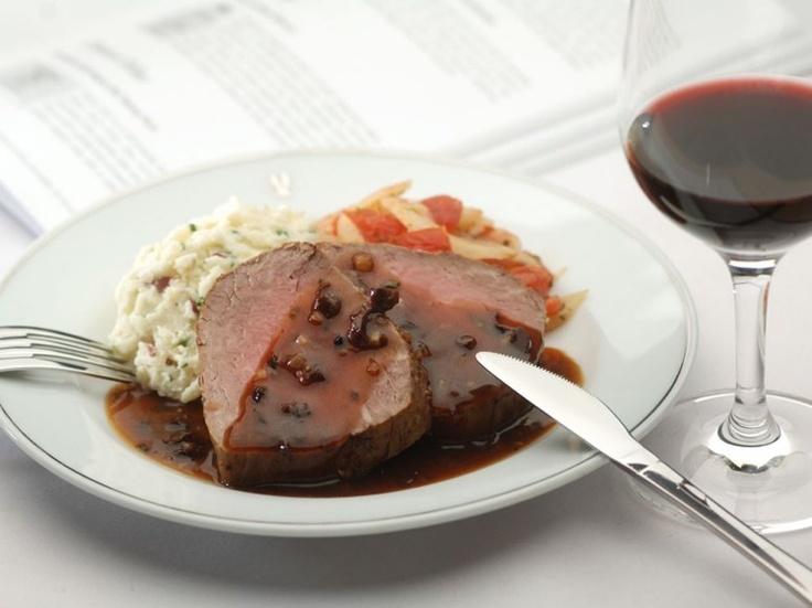 ... truffle-infused mashed potatoes, and vegetable au gratin flies premium