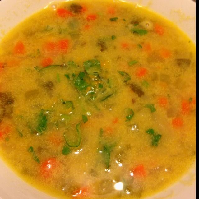 Lentil and Coconut Soup with Cilantro-Habanero Gremolata