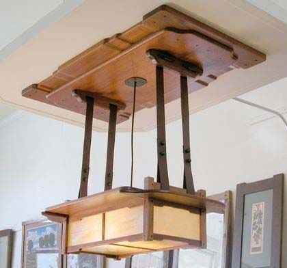 Unusual Lighting Fixture Arts And Crafts Style Pinterest