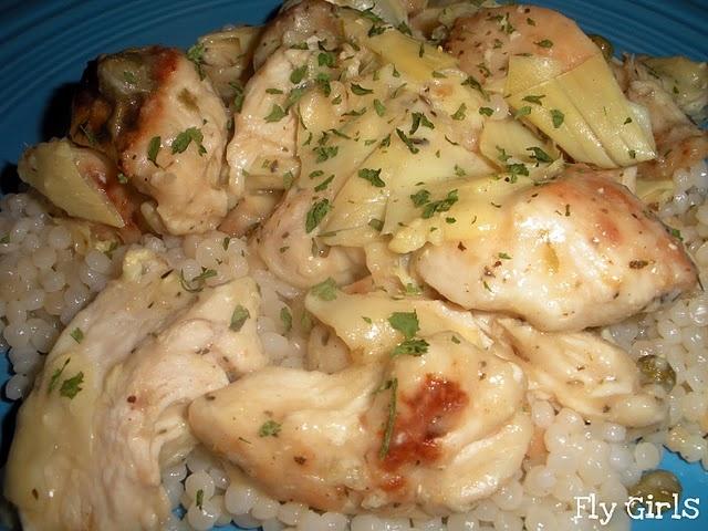 Chicken & Artichokes In Wine Sauce Recipe — Dishmaps