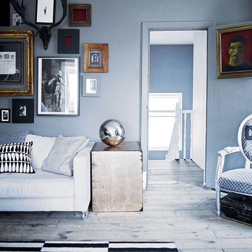 silver + grey