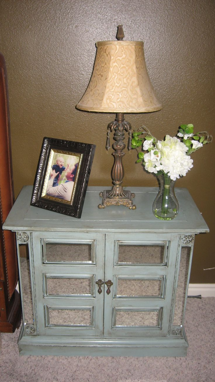 How to mirror furniture diy projects pinterest for How to make a mirrored nightstand diy